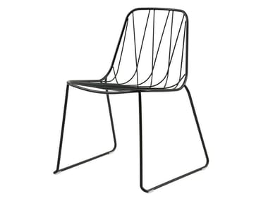 Powder coated steel garden chair CHEE | Chair
