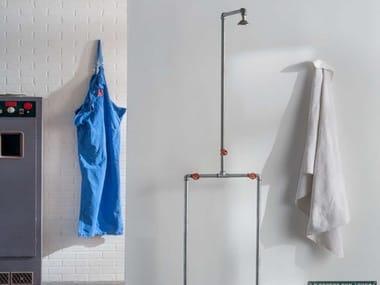 Colonna doccia in acciaio zincato con soffione CHEF | Colonna doccia