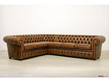 Corner tufted leather sofa CHESTERFIELD | Corner sofa