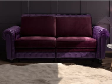 Tufted 2 seater leather sofa CHESTERFIELD | Sofa