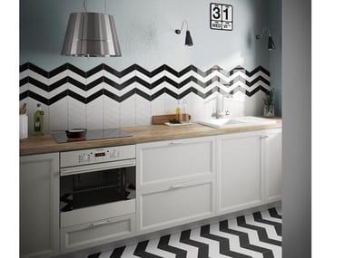White-paste wall tiles CHEVRON WALL