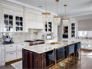 Lacquered wooden kitchen with island CHICAGO - NORTH SHORE | Kitchen