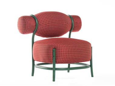 Fabric armchair with armrests CHIGNON