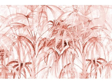 Tropical wallpaper, PVC free, eco, washable CHINELEAVES