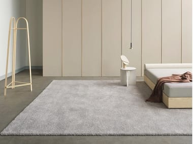 Hand tufted rug in pure wool and linen CHIQUE