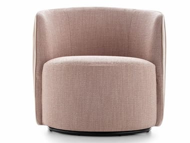 Upholstered fabric easy chair CHLOÈ LUXURY