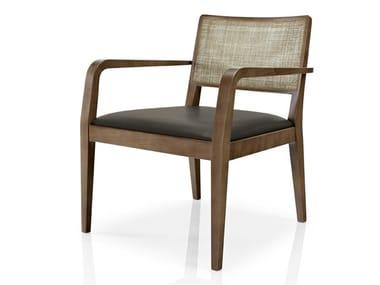 Cadeira de pele com braços de restaurante CIBELLE | Cadeira com braços