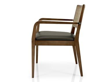 Cadeira de pele com braços CIBELLE | Cadeira com braços