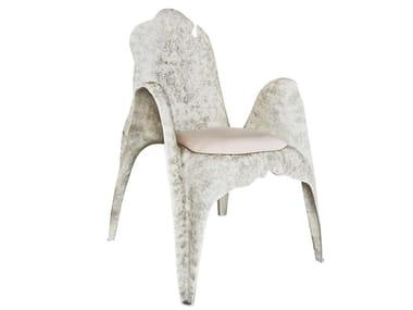 Fiberglass chair with armrests CIBELLE K3000
