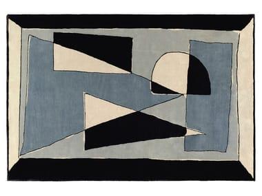 Handmade rectangular rug CIEL DE PYTHAGORE