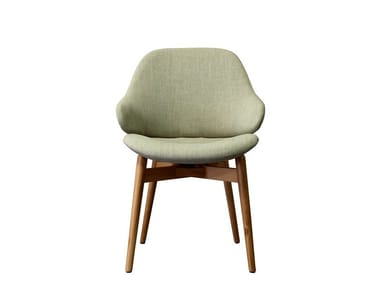 Upholstered chair with armrests CIEL! WOODY