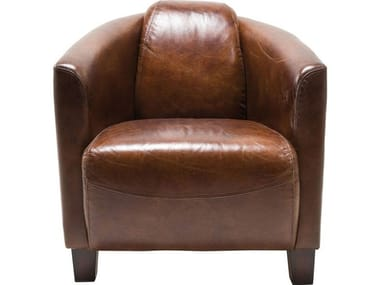 Club cowhide armchair CIGAR LOUNGE | Armchair