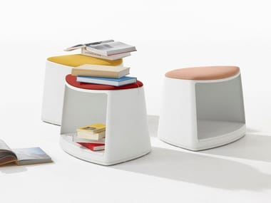 Plastic office stool with castors CILA GO | Stool with castors
