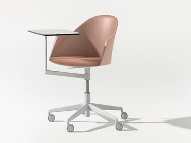 Chair with 5-spoke base with castors CILA GO | Chair with 5-spoke base
