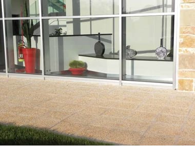 Indoor/outdoor stone flooring CIOTTOLATO ANTICATO