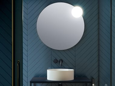 Round wall-mounted mirror with integrated lighting CIRC   Round mirror