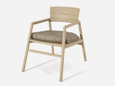 Wooden easy chair VALERIONA By Miniforms design Giopato Coombes