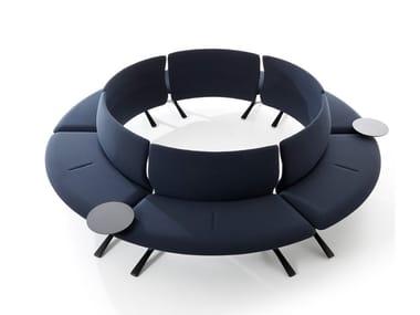Curved modular fabric sofa CIRCLE