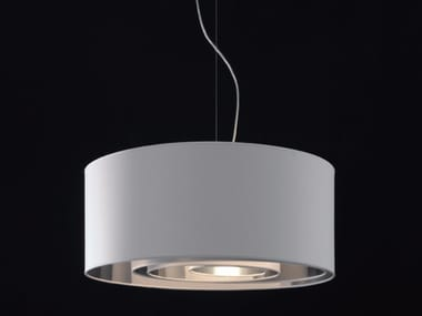 Direct light fluorescent fabric pendant lamp CIRCLES - 429