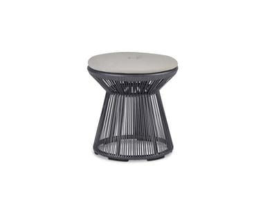 Low synthetic fibre garden stool CIRQL | Stool