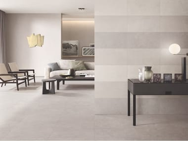 Porcelain stoneware wall/floor tiles with concrete effect CITTÀ