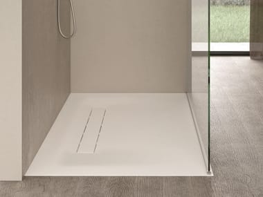 Flush fitting Corian® shower tray CITY
