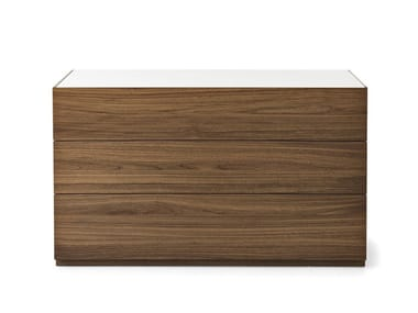 Wood veneer chest of drawers CITY | Chest of drawers