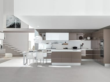 Fitted kitchen with island CITY | Kitchen