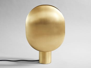 LED direct-indirect light brass table lamp CLAM | Table lamp