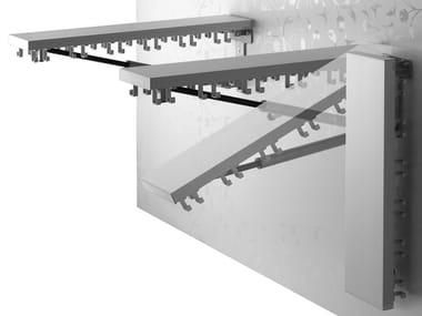 Wall-mounted metal coat rack CLAP