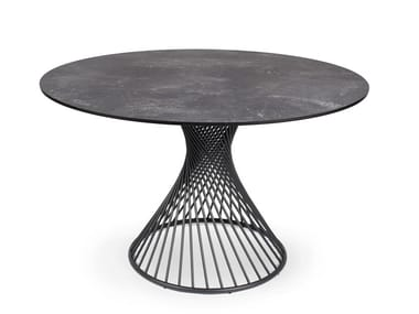Round stainless steel dining table CLARIS   Round table