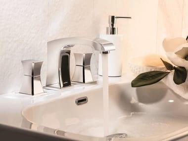 Rubinetto per lavabo a 3 fori da piano CLASS-X | Rubinetto per lavabo a 3 fori