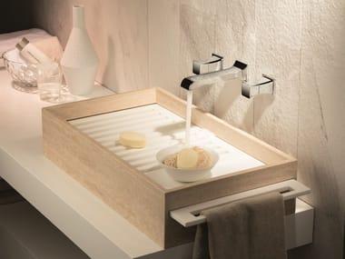 Rubinetto per lavabo a 3 fori a muro CLASS-X | Rubinetto per lavabo a muro