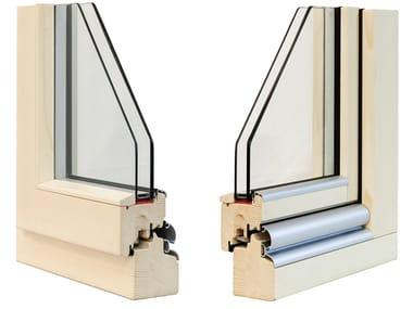 Finestra in legno con doppio vetro CLASSIC 72