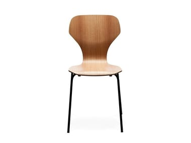 Stackable wood veneer chair CLASSIC