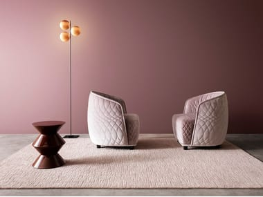 Solid-color wool rug CLASSIC MATRICE