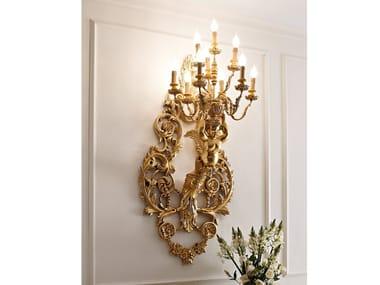 Gold leaf wall lamp CLASSICO | Gold leaf wall lamp
