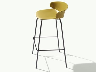 High stackable plastic stool CLASSY 1092