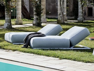 Recliner fabric garden daybed CLAUD | Garden daybed