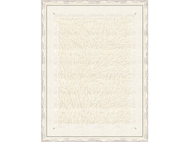 Handmade rectangular rug CLAUDINE BLANC