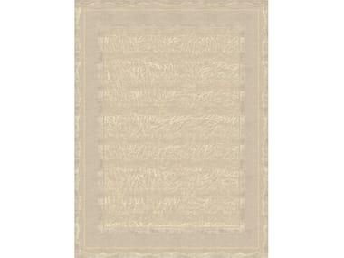 Handmade rectangular rug CLAUDINE TERRESTRE