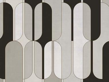 Papel de parede geométrico de tecido não tecido CLAY