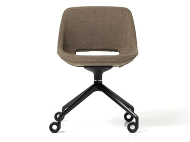 Fabric office chair with 4-Spoke base with castors CLEA | Office chair with castors