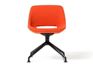 Trestle-based fabric chair CLEA | Trestle-based chair