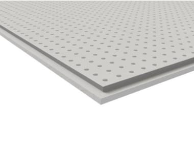 Acoustic gypsum plasterboard for suspended ceiling CLEANEO FF