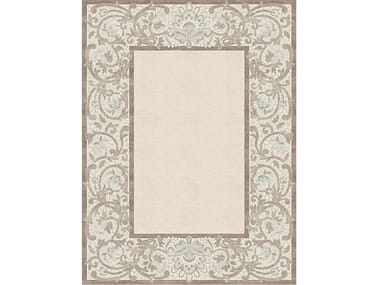 Handmade rectangular rug CLEMENTINE TERRESTRE