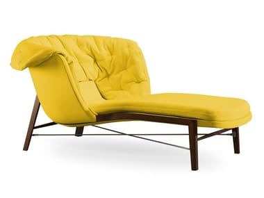 Fabric Chaise longue CLEO WOOD | Chaise longue