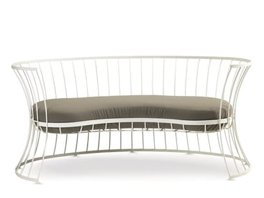 2 seater aluminium garden sofa CLESSIDRA | Garden sofa