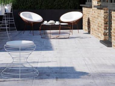 Upholstered stool CLESSIDRA | Stool