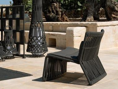 Upholstered fabric garden armchair CLIFF   Garden armchair